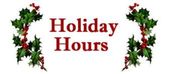 holiday hours sign berries