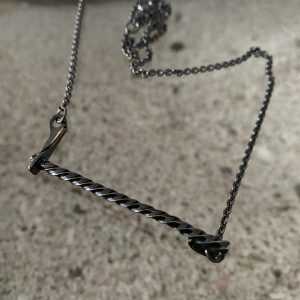 ICE Necklace blackened oxidised