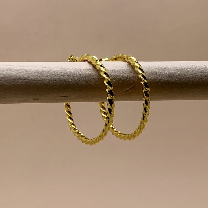 ICE Hoops Goldplated