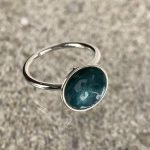Dots Ring Ocean Green 12 mm