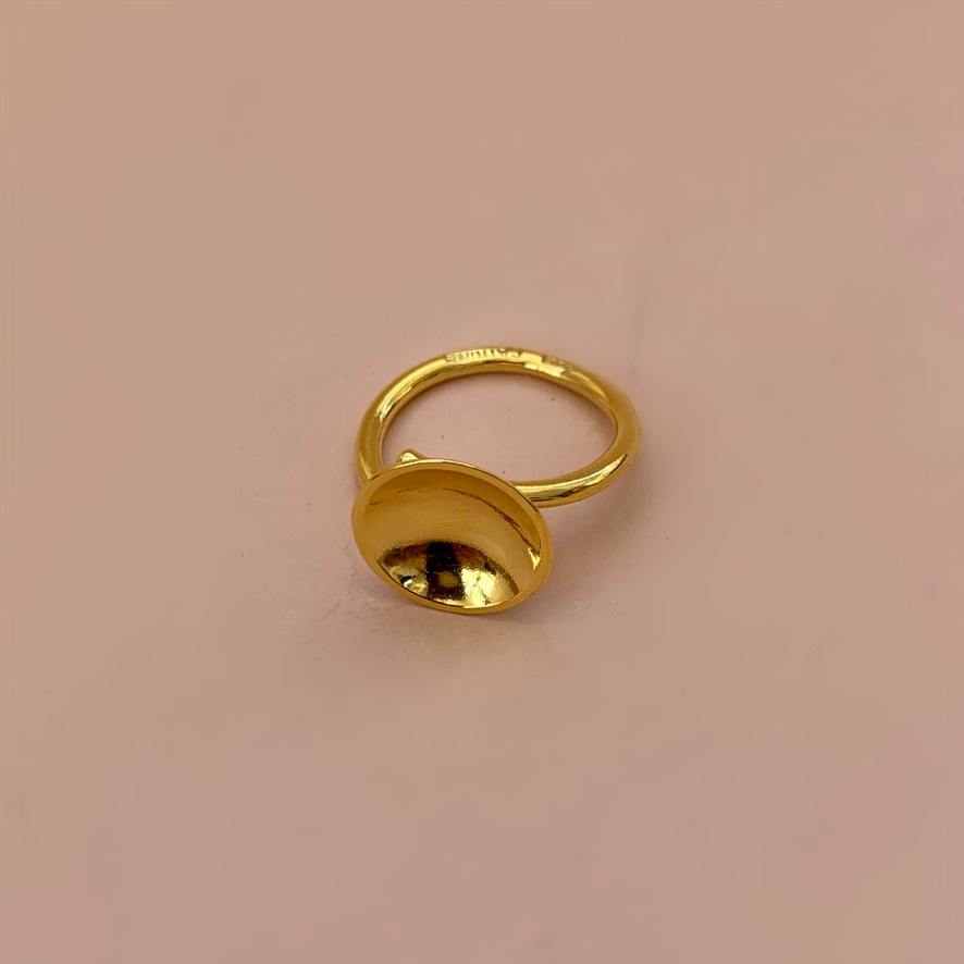 Dots Ring Naked Gold Plated