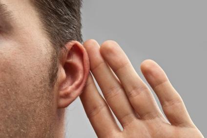 eavesdropping listening ear spying whispering hard of hearing