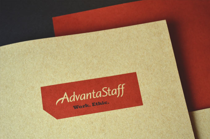 AdvantaStaff Website Design And Print Collateral.