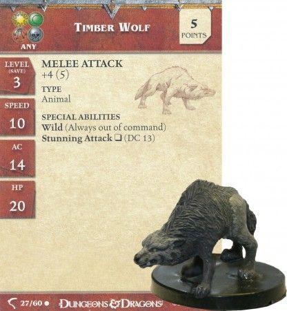 Timber Wolf 27 Deathknell DampD Miniatures Deathknell D