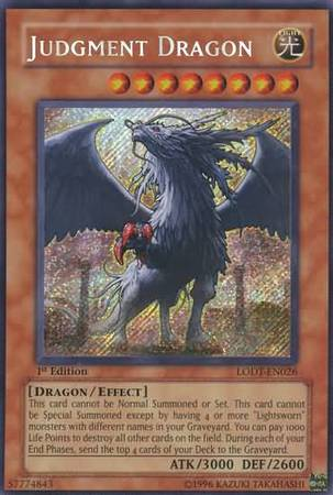Judgment Dragon LODT EN026 Secret Rare Light Of