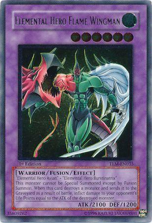 Ultimate Rare Elemental Hero Flame Wingman TLM EN035