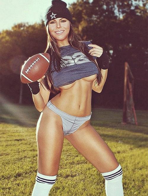 Terann Hilow se avienta un sexy 'touchdown' (Foto tomada de Instagram tbody89)