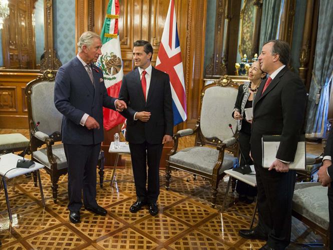 El presidente Enrique Peña Nieto aplaudió el crecimiento comercial que el Reino Unido y México han registrado