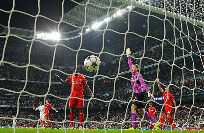 Benzema abrió el marcador al minuto 26 (AP)