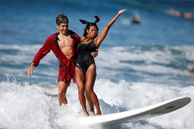 Un torneo de surf fuera de lo común (Reuters)