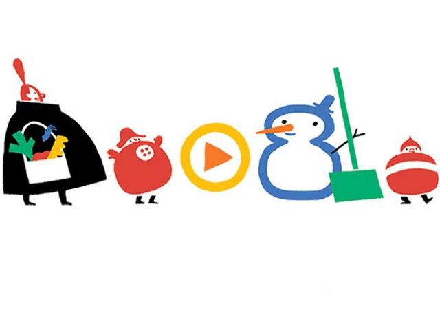 Google da la bienvenida al invierno con un doodle interactivo. Imagen Google