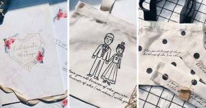 婚禮小物#024|質感與美感兼具,清新花草風格,嘻嘻婚禮喜帖設計