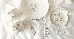 婚禮小物#031|純手工描金訂製餐具家飾,xiao的細膩質感手作器物