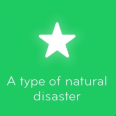 A type of natural disaster 94