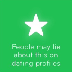 People may lie about this on dating profiles 94
