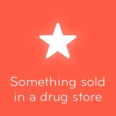 Something sold in a drug store 94
