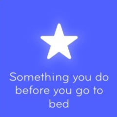 Something you do before you go to bed 94