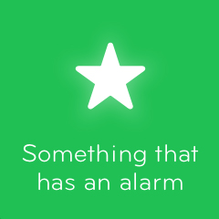 Something that has an alarm 94