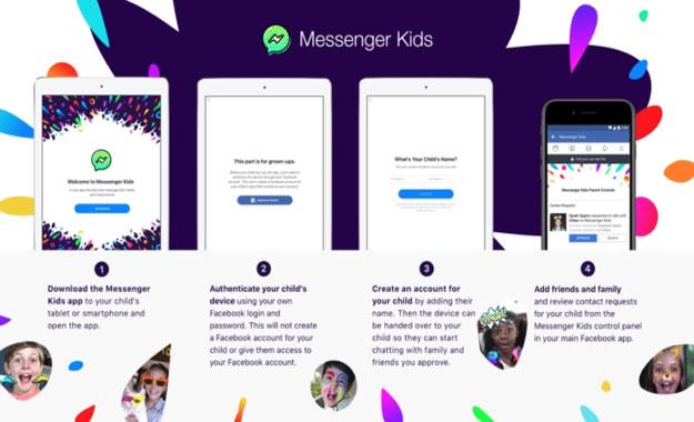 Facebook lanza Messenger Kids la app de video chat para niños