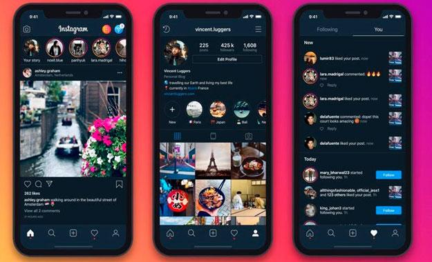 Instagram empieza a implementar el Modo Oscuro en los smartphones