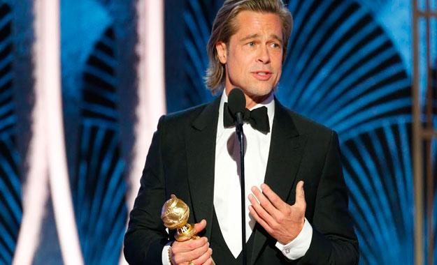 Brad Pitt se llevó el premio de los Globos de Oro 2020 como 'Mejor actor de reparto'