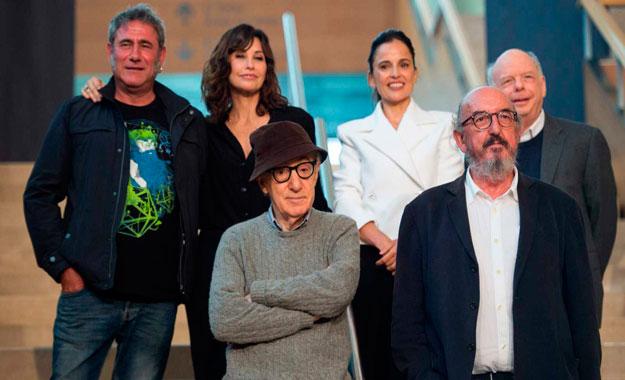El director Woody Allen rueda su última película en España