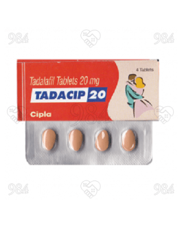 Tadacip 20mg 4 Tablet, Cipla