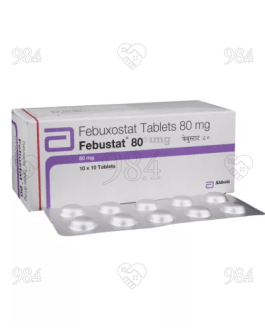 Febustat 80mg 100 Tablets, Abbott