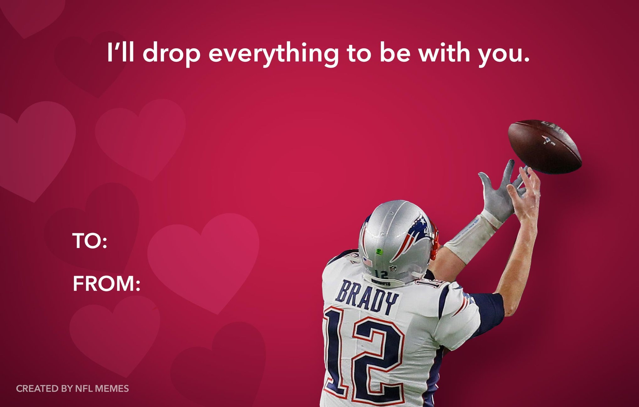 Everyone Deserves A Valentine S Day Meme Card From The Patriots