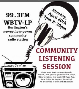 Burlington's local community radio