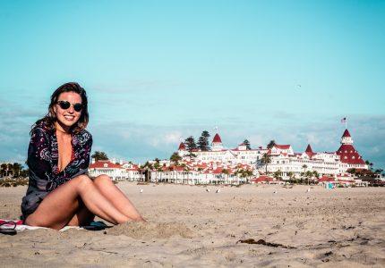 Photo of Girl at Coronado Beach, San Diego
