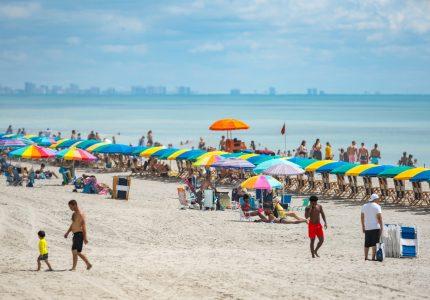 Tourists on Myrtle Beach