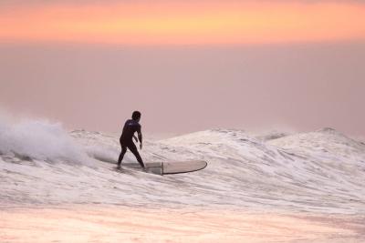 Surfer in Waikiki Beach