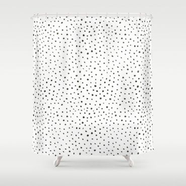 Beautiful Black And White Shower Curtains Design Ideas 07