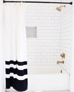Beautiful Black And White Shower Curtains Design Ideas 15