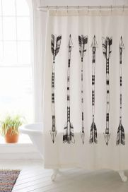 Beautiful Black And White Shower Curtains Design Ideas 24