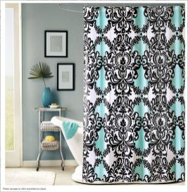 Beautiful Black And White Shower Curtains Design Ideas 26