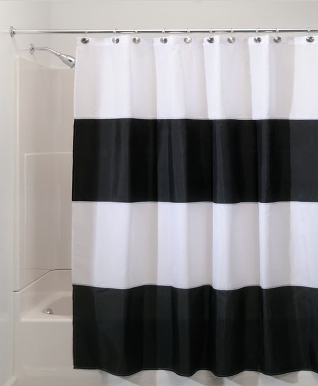 Beautiful Black And White Shower Curtains Design Ideas 31