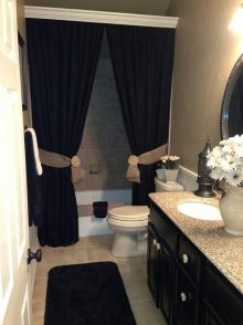 Beautiful Black And White Shower Curtains Design Ideas 32