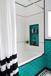 Beautiful Black And White Shower Curtains Design Ideas 41