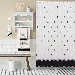 Beautiful Black And White Shower Curtains Design Ideas 43