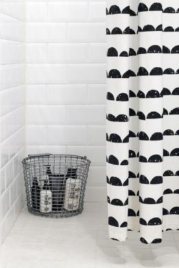 Beautiful Black And White Shower Curtains Design Ideas 51