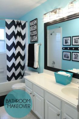 Beautiful Black And White Shower Curtains Design Ideas 53