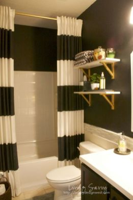 Beautiful Black And White Shower Curtains Design Ideas 54