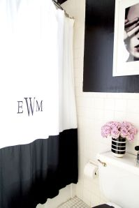 Beautiful Black And White Shower Curtains Design Ideas 55