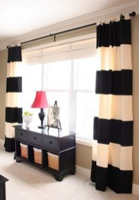 Beautiful Black And White Shower Curtains Design Ideas 65