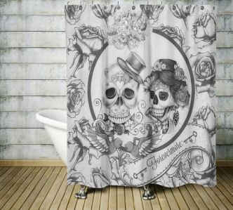 Beautiful Black And White Shower Curtains Design Ideas 74