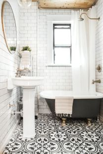 Beautiful Black And White Shower Curtains Design Ideas 86