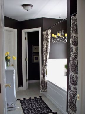 Beautiful Black And White Shower Curtains Design Ideas 96