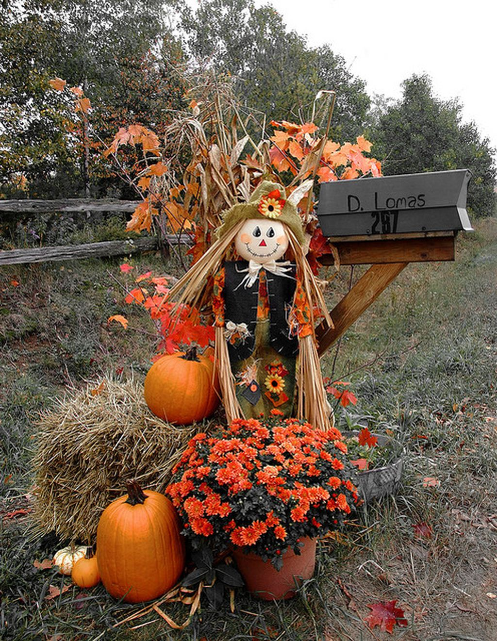 Easy But Inspiring Outdoor Fall Decoration Ideas 07
